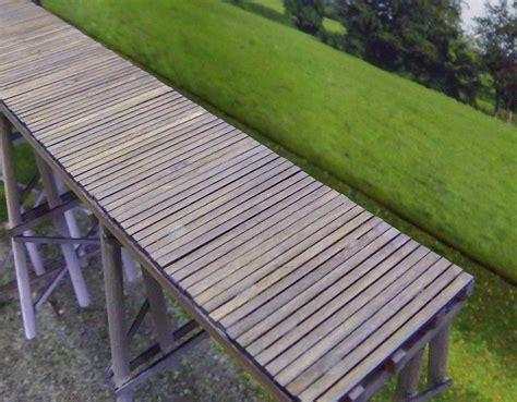 Single Plank Bridge bridge planks suit single track ho scale model buildings