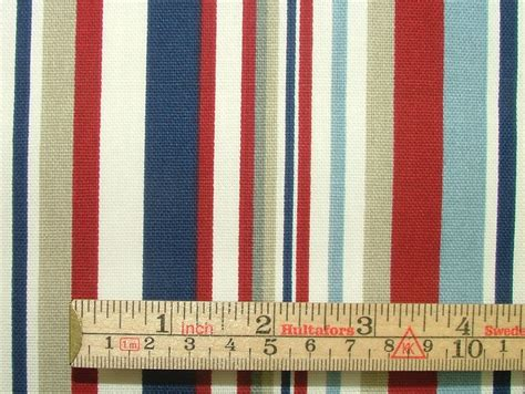 nautical upholstery nautical red blue ticking stripe cotton curtain upholstery