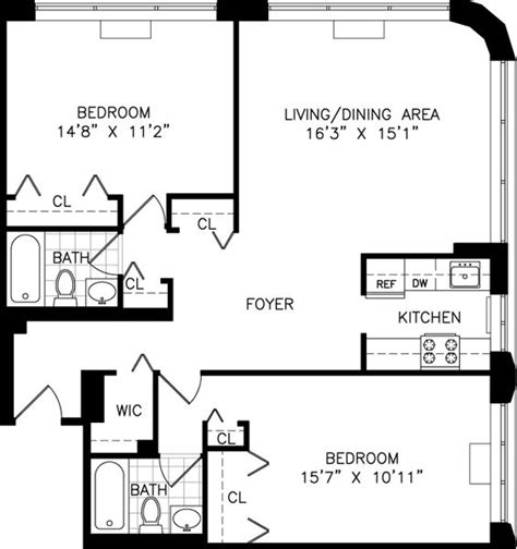 new york apartment floor plan 9 best small kitchen solutions images on pinterest