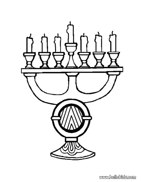 coloring pages for kwanzaa candle holder kinara
