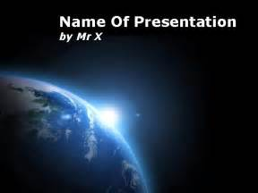 space powerpoint template earth planet view from space powerpoint template