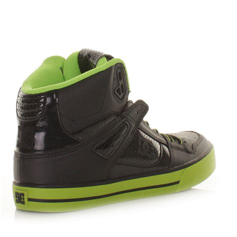 dc shoes high tops dc shoes mens trainers spartan high wc green black skate
