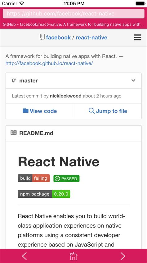 react native webview tutorial react native webbrowser cooca hub