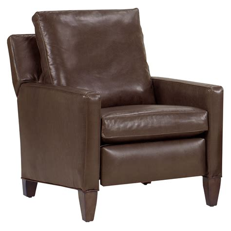 reclining leather alvin quot designer style quot tall leg leather reclining chair
