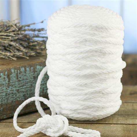 Macrame Braided Cord - white braided macrame cord wire rope string basic