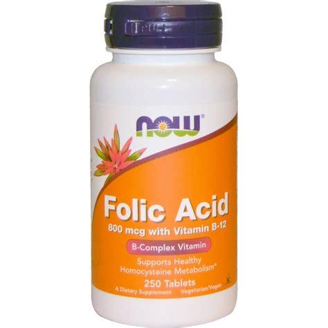 Vitamin B Detox Rash by Now Foods Folic Acid With Vitamin B 12 800 Mcg 250