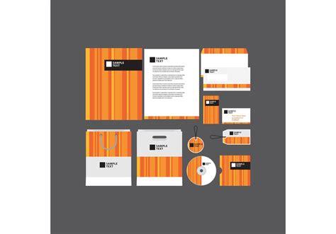 Business Profile Design Templates orange striped company profile template free