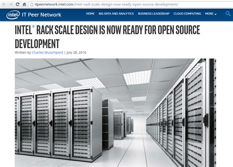Rack Scale Architecture by Intel Puts Its Rack Scale Design Into Open Source