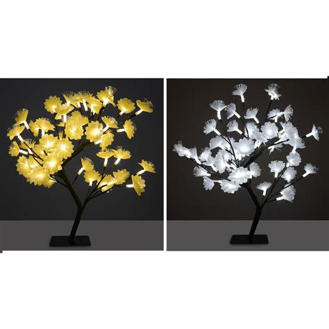 outdoor lighted cherry blossom tree 45cm fibre optic led cherry flower tree indoor outdoor