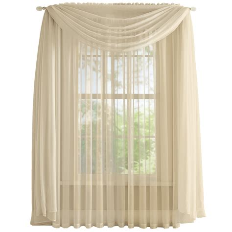 how to hang sheer scarf curtains elegant sheer curtain scarf by collections etc ebay