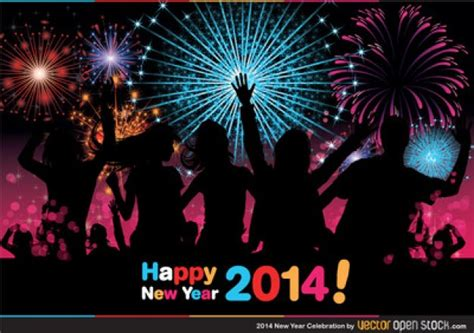 happy new year celebration with fireworks vector free