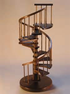 custom 1 12th scale miniature walnut spiral staircase by
