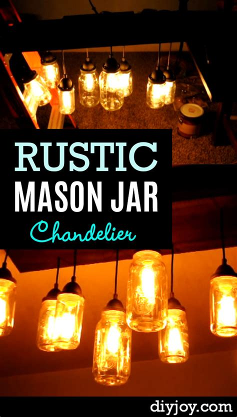 oh so lovely diy rustic mason jar chandelier diy joy