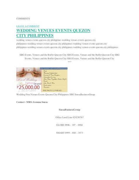 Budget Wedding Quezon City by Affordable Venue Affordable In Quezon City Affordable