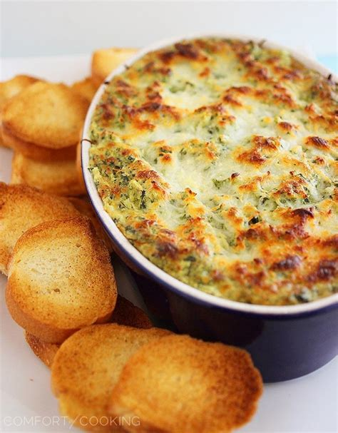the comfort of cooking hot cheesy spinach artichoke dip the comfort of cooking