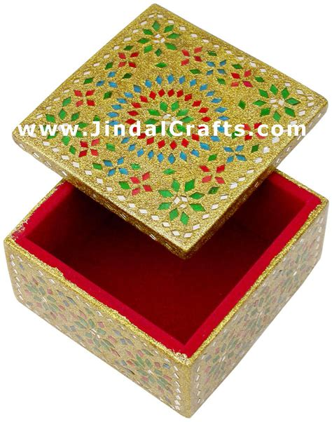 Indian Handmade Crafts - handmade lac decorative jewelry box indian rich crafts