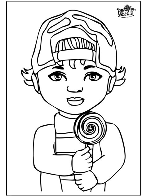 little boy 1 children coloring page