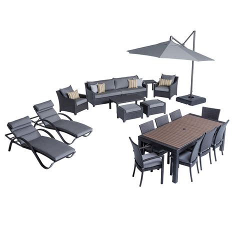 rst brands deco estate wicker 20 patio conversation