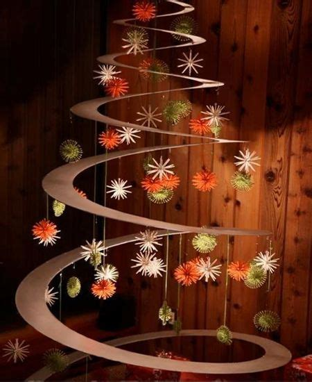 diy spiral christmas tree holidays pinterest
