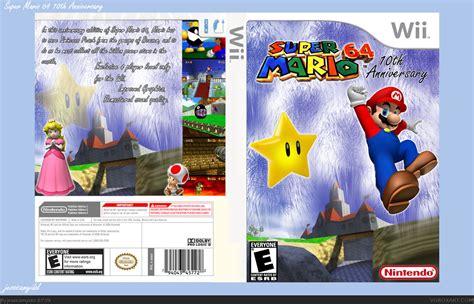 super mario 64 ds wii super mario 64 10th anniversary wii box art cover by