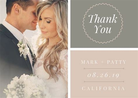 when should you get wedding thank cards out boho wedding thank you card templates by canva