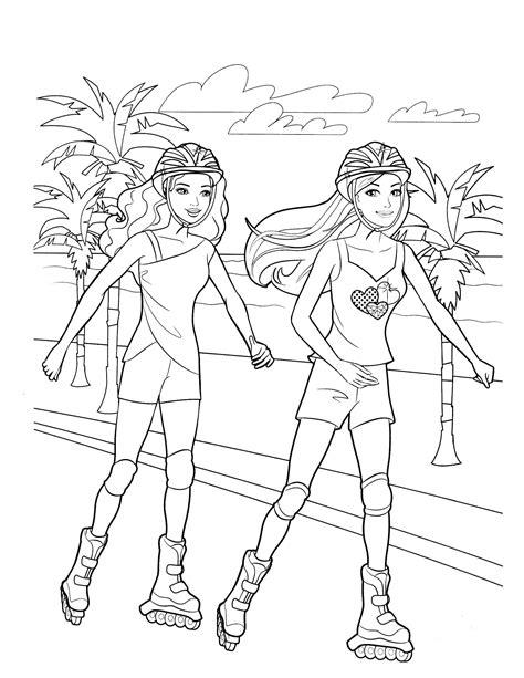 barbie beach coloring pages barbie 81 coloringcolor com