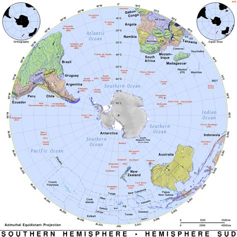 southern hemisphere maps on the web