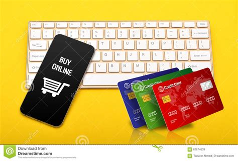 Mastercard Gift Card Online Purchase - buy online store icon with credit cards stack on keyboard stock illustration image