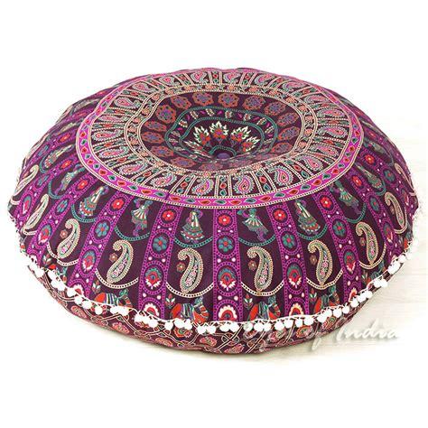 purple pink bohemian floor pillow cushion mandala floor pillows eyes  india