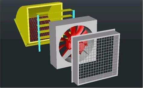 wall mounted centrifugal fan dwg block  autocad