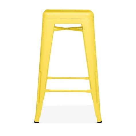 Yellow Stools by Yellow Powder Coated 65cm Style Stool Cult Furniture