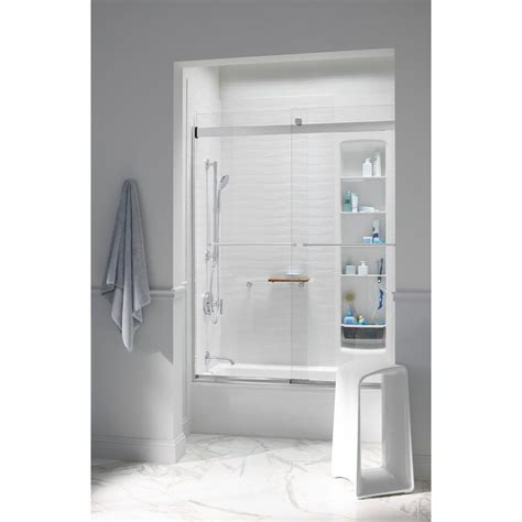 Kohler Levity 59 5 8 In X 74 In Frameless Sliding Shower Levity Shower Door