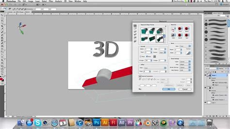photoshop cs5 tutorial 3d text with a drop shadow youtube 3d text shapes in photoshop cs5 youtube
