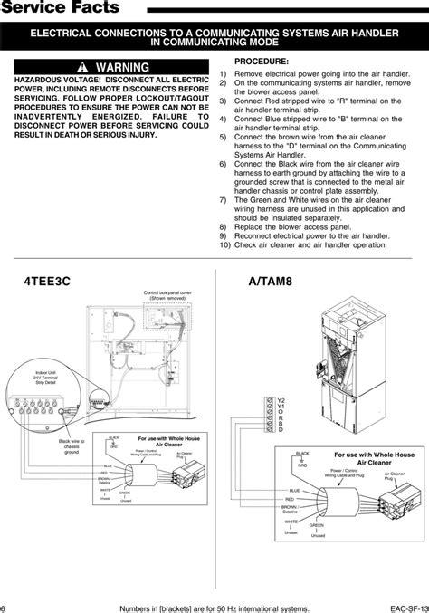 Trane Tam8 Aux 1 Wiring Diagram Ventilator