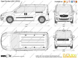 Vauxhall Combo Dimensions The Blueprints Vector Drawing Opel Combo D L2h1