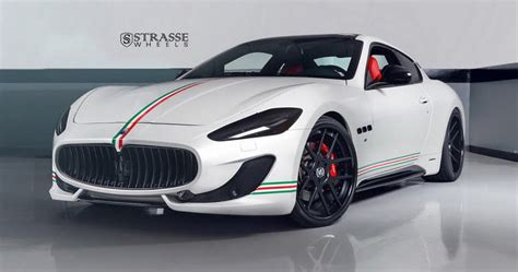 satin black maserati patriotic maserati granturismo s poses on satin black wheels