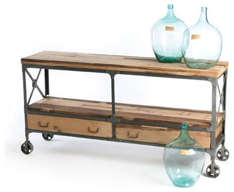 industrial buffet table kenton sideboard industrial console tables by indeed decor
