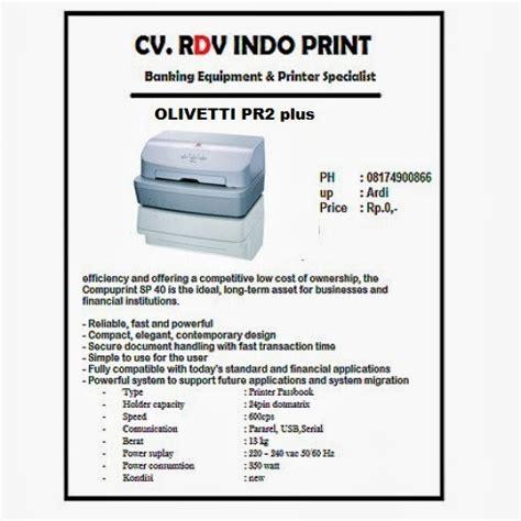 Print Olivetti Pr2 Plus Used cv rdv indo print distributor olivetti pr2 plus