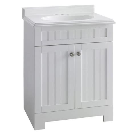 Lowes White Bathroom Vanity by Beadboard Style Estate By Rsi White Boardwalk Bath Vanity