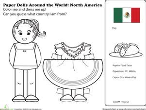 mexican doll coloring page 17 best images about it s a small world on pinterest