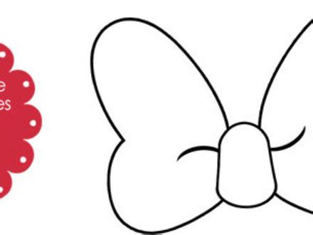 free printable minnie mouse bow template free printable minnie mouse bow template images template
