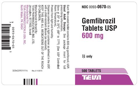 Usp Controlled Room Temperature by Dailymed Gemfibrozil Gemfibrozil Tablet Coated