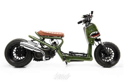 honda ruckus custom custom honda ruckus p150 warhawk steady garage