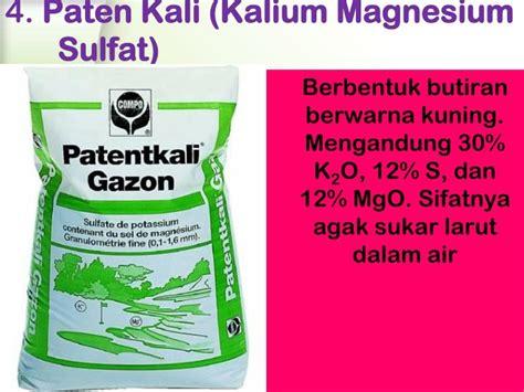 Pupuk Kalium Magnesium Sulfat ppt pupuk s sulfur powerpoint presentation id 2068083