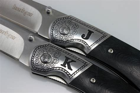 engraved knife engraved kershaw pocket knives david sheehan engraver