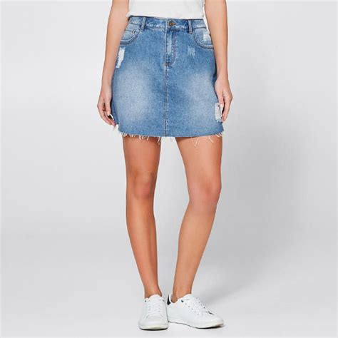 denim mini skirt blue target australia