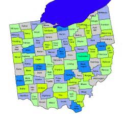 Ohio Township Map by Ohio Counties Townships