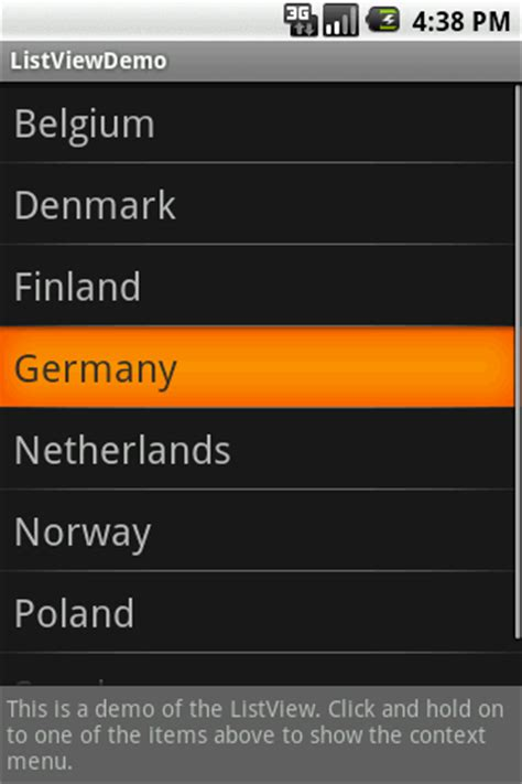 android listview layout width wrap content show a context menu for long clicks in an android listview