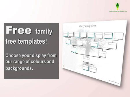 4 free family tree templates family tree