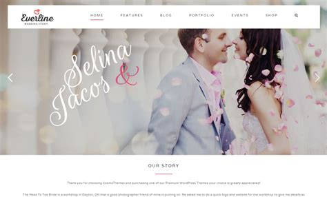 10 best wordpress wedding themes of 2017 modern wp themes
